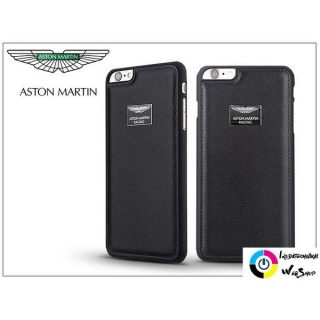 Aston Martin Racing Apple iPhone 6 Plus/6S Plus valódi bőr hátlap fekete  (ST963040)