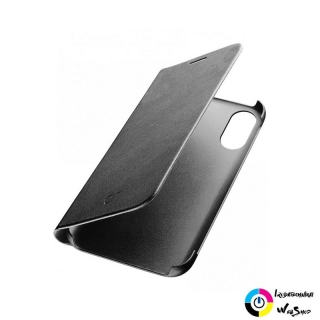 Cellularline Book Essential iPhone X flip tok fekete (BOOKESSIPH8K)