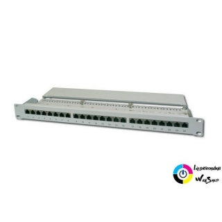 "Digitus DN-91624S patch Panel 24 port 1U 19"" CAT 6 árnyékolt, szürke"