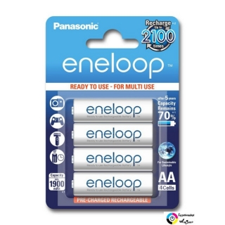Panasonic Eneloop 1.2V AA 1900mAh akku (4db) /BK-3MCCE/4BE/ Ready to use