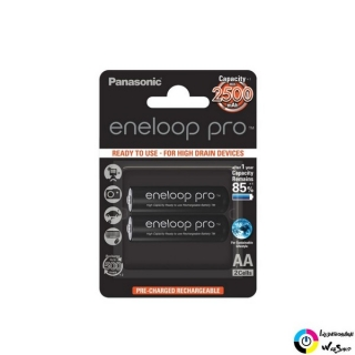 "Panasonic Eneloop Pro 1.2V AA 2500mAh akku (2db) /BK-3HCDE-2BE/ ""Ready to use"""