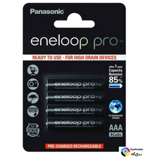 Panasonic Eneloop Pro 1.2V AAA 930mAh akku (4db) /BK-4HCDE-4BE/ Ready to use
