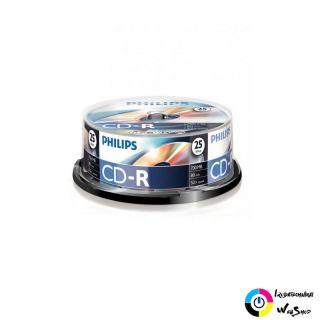 Philips CD-R 80'/700MB lemez hengeres 25db/cs
