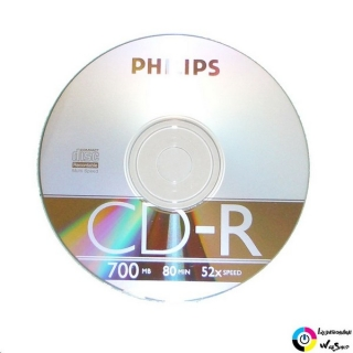 Philips CD-R 80'/700MB lemez slim tokos