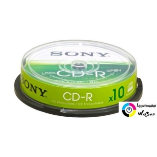Sony 80'/700MB 48x hengeres CD lemez 10db/cs /10CDQ80SP/